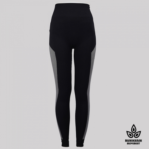 Move with Your Body High-Rise Washed Yoga Tights in Black Move with Your Body
