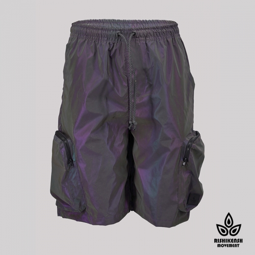 Lumi Grape Reflective Shorts with Functional Pockets
