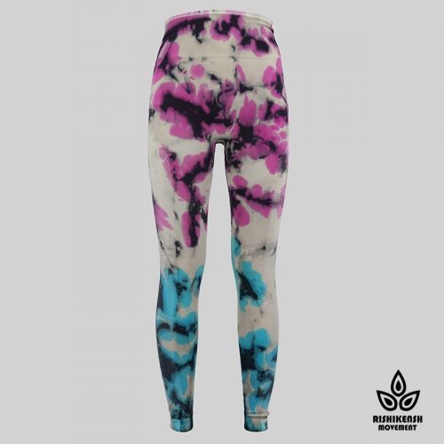 Move with Your Body High-Rise Yoga Tights in Graffiti Tie-Dye
