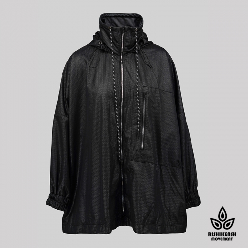 Lightweight Jacket with a Pocket at Front in Black
