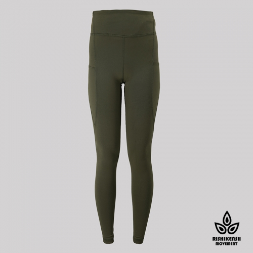 Speed Up High-Rise Yoga Tights in Dark OLive