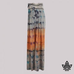 Model blend tie-dye high waist wide-leg pants