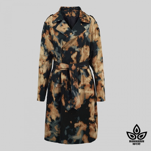 Tie-Dye and Discharged Charming Utility Coat
